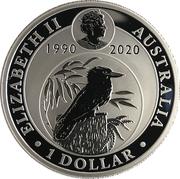 1 Dollar - Elizabeth II (6th Portrait - Kookaburra - 30th Anniversary) -  obverse