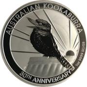 1 Dollar - Elizabeth II (6th Portrait - Kookaburra - 30th Anniversary) -  reverse