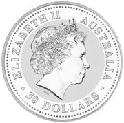 30 Dollars - Elizabeth II (4th portrait - Year of the Pig - Silver Bullion Coin) -  obverse