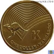 1 Dollar - Elizabeth II (4th Portrait - The Great Aussie Coin Hunt - Letter K) -  reverse