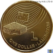 1 Dollar - Elizabeth II (4th Portrait - The Great Aussie Coin Hunt - Letter L) -  reverse