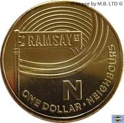 1 Dollar - Elizabeth II (4th Portrait - The Great Aussie Coin Hunt - Letter N) -  reverse