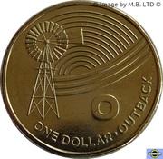 1 Dollar - Elizabeth II (4th Portrait - The Great Aussie Coin Hunt - Letter O) -  reverse