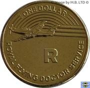 1 Dollar - Elizabeth II (4th Portrait - The Great Aussie Coin Hunt - Letter R) – reverse