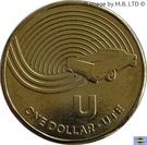 1 Dollar - Elizabeth II (4th Portrait - The Great Aussie Coin Hunt - Letter U) – reverse