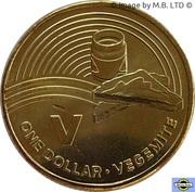 1 Dollar - Elizabeth II (4th Portrait - The Great Aussie Coin Hunt - Letter V) -  reverse