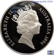 1 Dollar - Elizabeth II (3rd Portrait - 30th Anniversary - Decimal Currency Silver Proof) -  obverse