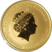 25 Dollars - Elizabeth II (4th Portrait - Year of the Horse - Gold Bullion Coin) -  obverse