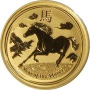 25 Dollars - Elizabeth II (4th Portrait - Year of the Horse - Gold Bullion Coin) -  reverse