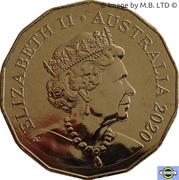 50 Cents - Elizabeth II (6th Portrait - Year of the Rat) -  obverse