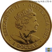 1 Dollar - Elizabeth II (6th Portrait - Year of the Rat) -  obverse