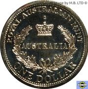 1 Dollar - Elizabeth II (4th Portrait - Australia's First Mints) -  reverse