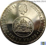 1 Dollar - Elizabeth II (4th Portrait - 50th Anniversary of Decimal Currency) -  obverse