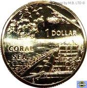 1 Dollar - Elizabeth II (4th Portrait - Coral Sea) -  reverse