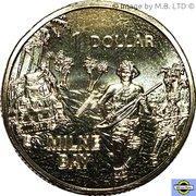 1 Dollar - Elizabeth II (4th Portrait - Milne Bay) -  reverse
