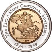 100 Dollars - Elizabeth II (The Sovereign) -  reverse