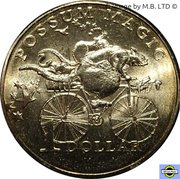 1 Dollar - Elizabeth II (4th Portrait - Possum Magic - Racing Across Australia) -  reverse