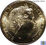 1 Dollar - Elizabeth II (4th Portrait - Possum Magic - Hush Visible Forever) -  obverse