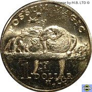 1 Dollar - Elizabeth II (4th Portrait - Possum Magic - Hush Visible Forever) -  reverse