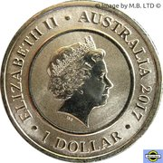 1 Dollar - Elizabeth II (4th Portrait - Planetary Coins - Neptune) -  obverse