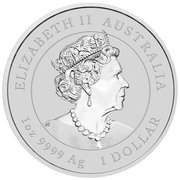 1 Dollar - Elizabeth II (6th Portrait - Year of the Mouse - Gilded) -  obverse