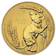 15 Dollars - Elizabeth II (6th Portrait - Lunar Year of the Mouse: Gold Proof) -  reverse