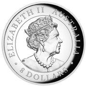 8 Dollars - Elizabeth II (6th Portrait - Australian Kangaroo) -  obverse