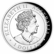 1 Dollar - Elizabeth II (6th Portrait - Australian Kangaroo - Proof High Relief) -  obverse