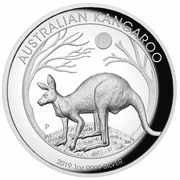 1 Dollar - Elizabeth II (6th Portrait - Australian Kangaroo - Proof High Relief) -  reverse