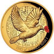 25 Dollars - Elizabeth II (4th Portrait - Peace Dove - Gold Bullion Coin) -  reverse