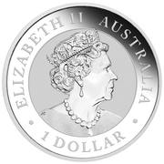 1 Dollar - Elizabeth II (6th Portrait - Australian Kookaburra - Colourised) -  obverse