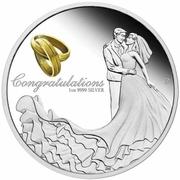1 Dollar - Elizabeth II (6th Portrait - Wedding - Silver Proof) -  reverse