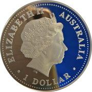 1 Dollar - Elizabeth II (4th Portrait - Australia on the Map) -  obverse