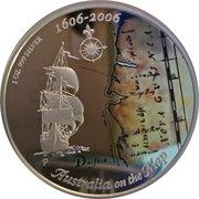 1 Dollar - Elizabeth II (4th Portrait - Australia on the Map) -  reverse