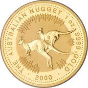 100 Dollars - Elizabeth II (4th Portrait - Kngaroo - Gold Bullion Coin) -  reverse