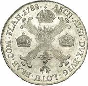 ½ Kronenthaler - Joseph II (Type 2) – reverse