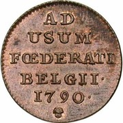 1 Liard / 1 Oord (Insurrection Coinage) – reverse