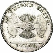 1 Florin / 1 Gulden (Type 1; Insurrection Coinage) – reverse
