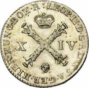 14 Liards / 14 Oorden - Leopold II – obverse
