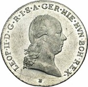 ¼ Kronenthaler - Leopold II – obverse