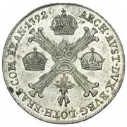 ¼ Kronenthaler - Leopold II – reverse