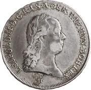 ½ Kronenthaler - Leopold II – obverse