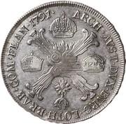 ½ Kronenthaler - Leopold II – reverse