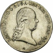 1 Kronenthaler - Leopold II – obverse