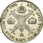 1 Kronenthaler - Leopold II – reverse