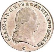 ½ Kronenthaler - Franz II – obverse