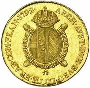 ½ Souverain - Franz II – reverse