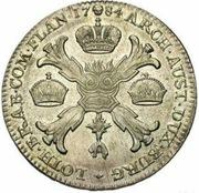 1 Kronenthaler - Joseph II (Type 1) – reverse