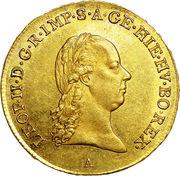 ½ Souverain d'or -  Leopold II – obverse