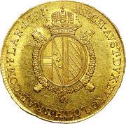 ½ Souverain d'or -  Leopold II – reverse